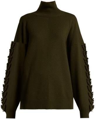Barrie - Timeless Roll Neck Cashmere Sweater - Womens - Khaki
