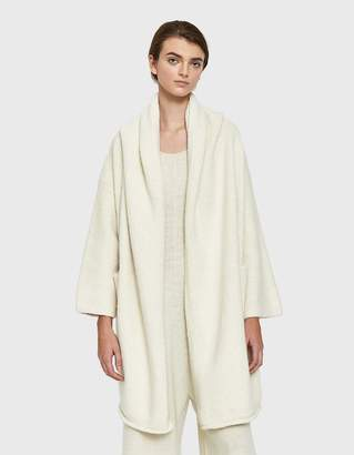 LAUREN MANOOGIAN Capote Shawl Coat in White