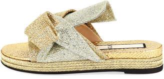 No.21 No. 21 Glittered Flat Mule Sandal