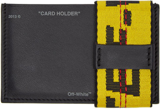Off-White Black Leather Card Holder $205 thestylecure.com