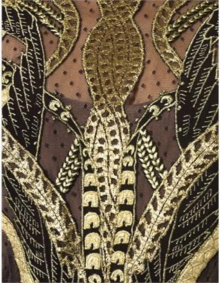 Temperley London Gold Mesh Aya Dress