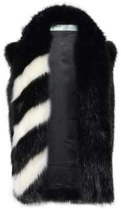 Off-White Off WhiteTM Two-tone Faux Fur Vest