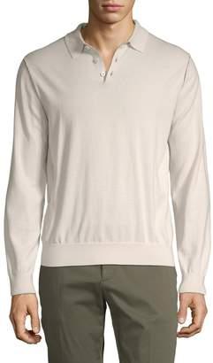 Zegna Men's Long Sleeve Polo