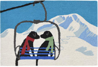 Liora Manné Liora Manne' Front Porch Indoor/Outdoor Ski Lift Love Winter 2' x 3' Area Rug