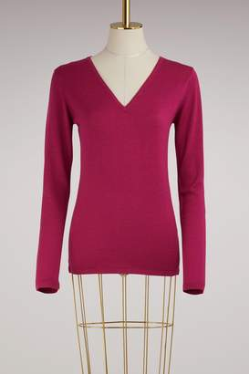 Le Bon Marche Virgin wool v-neck sweater