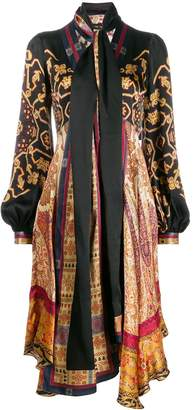 Etro empire line midi dress