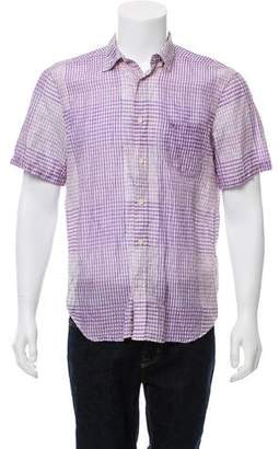 Burberry Checkered Short Sleeve Shirt