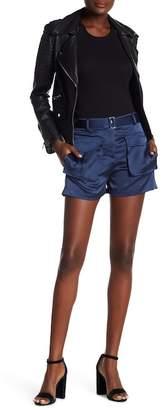 Theory Patch Pocket Silk Shorts