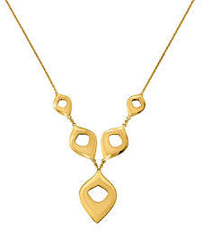 "QVC 14K Geometic Shape Drop 16"" Necklace, 4.5g"