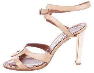 Manolo Blahnik High-Heel Leather Sandals