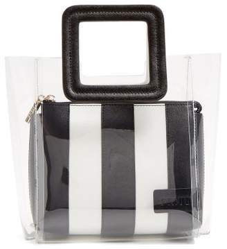 Staud - Shirley Mini Pvc And Leather Tote - Womens - Black White