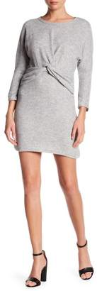 Everly Felt Front Twist Shift Dress