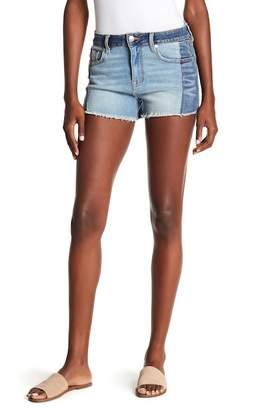 Vigoss Ace High Rise Colorblock Denim Shorts
