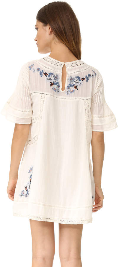 Free People Perfectly Victorian Embroidered Mini Dress 4