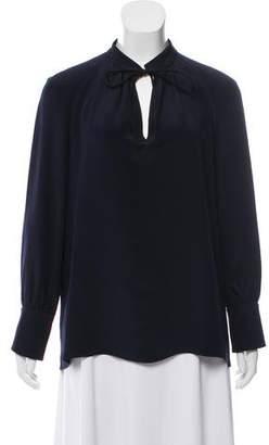 Derek Lam Silk Mandarin Collar Blouse w/ Tags