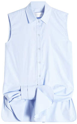 Victoria Beckham Victoria Sleeveless Cotton Blouse with Bow Detail