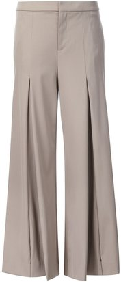 Ralph Lauren flared pleated trousers $1,170 thestylecure.com
