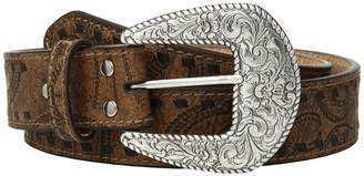 M&F Western Embossed with Tonal Laced Edges Belt Women's Belts