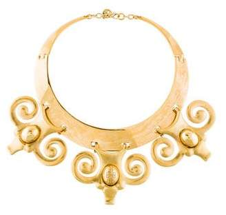 Tory Burch Scrolled Collar Necklace
