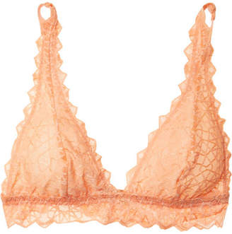 Cosabella Sweet Treats Star Stretch-lace Soft-cup Bra - Orange