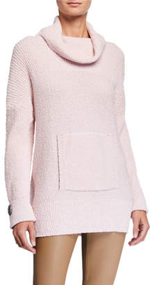 Pure & Co. Seize The Day Pretty In Pink Cowl-Neck Sweater