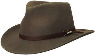 Woolrich Men's Crush Felt Outback WP Hat S KHAKI