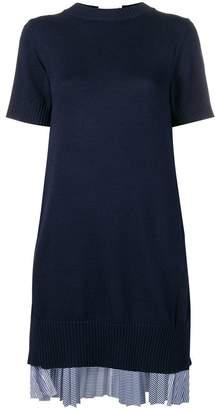 Sacai tunic dress with pleated rear layer