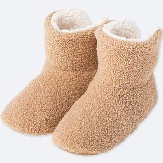 Uniqlo Women's Curly Fleece Slippers
