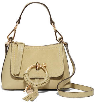 See by Chloe Joan Mini Textured-leather And Suede Shoulder Bag - Beige