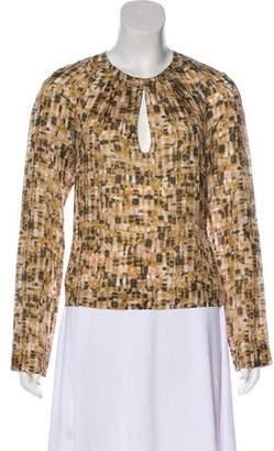 HUGO BOSS Silk Long Sleeve Top