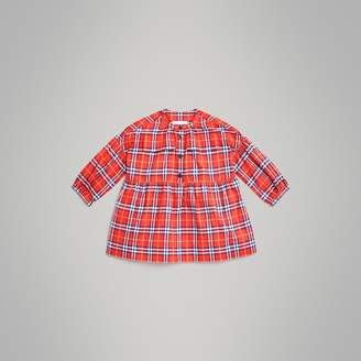 Burberry Check Cotton Flannel Dress