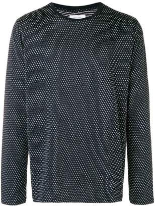 Soulland pointelle textured long sleeve crew neck shirt