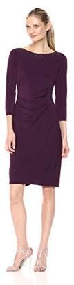 Jessica Howard Women's Embellished Side Tucked Sheath