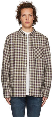 Nonnative Off-White and Navy Check Dweller Shirt
