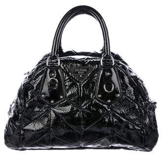 Prada Chevron Vernice Bowler Bag