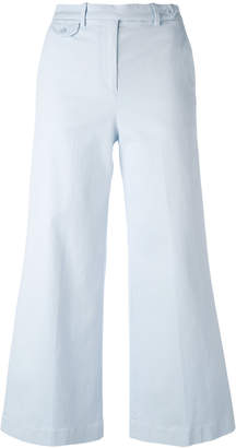 Theory wide leg cropped trousers
