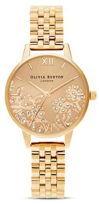 Olivia Burton Bejeweled Lace Bracelet Watch, 30mm