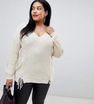 Vero Moda Curve Tie Front Knitted Sweater