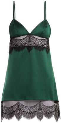 COCO DE MER Discotheque lace-trimmed slip dress