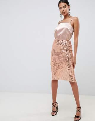 Asos Design DESIGN midi sequin tube skirt
