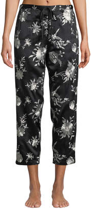 Natori Miyako Floral-Print Cropped Pants