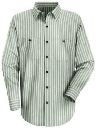 R&K Red Kap Men's RK Industrial Stripe Work Shirt