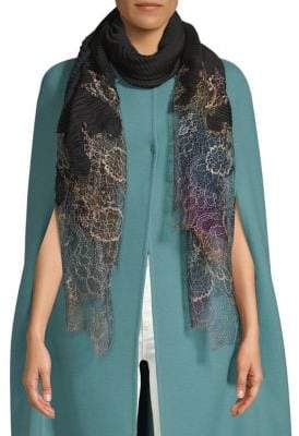 Valentino Ribbed Lace Stole