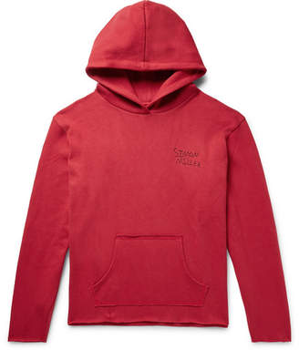 Simon Miller Oversized Logo-Embroidered Knitted Cotton Hoodie
