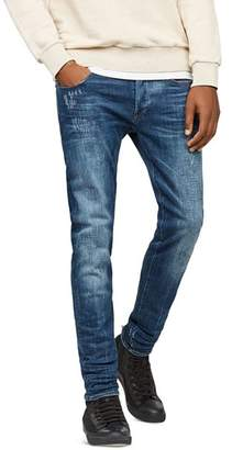 G Star 3301 Slim Fit Stretch Jeans in Dark Aged 86