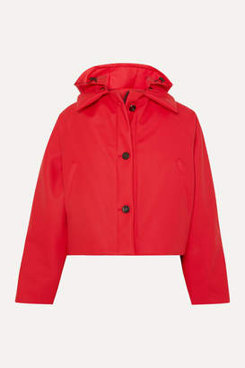Kassl Editions - Cropped Hooded Cotton-blend Shell Jacket - Red