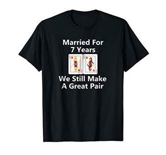 Married for 7 Years Queen & King Make Great Pair T-shirt