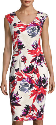 Maggy London Firework Garden Sheath Dress, White Pattern $99 thestylecure.com