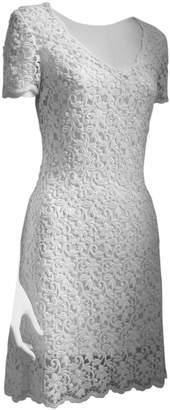 Laurèl White Cotton - elasthane Dress for Women