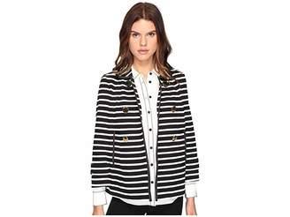 Kate Spade Stripe Peacoat Women's Coat